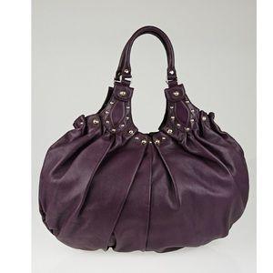 Gucci Purple leather Studded Pelham Shoulder Bag
